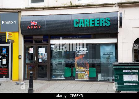 british army careers recruitment office Stirling Scotland UK - Stock Photo