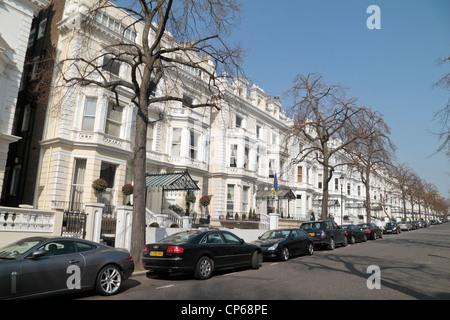 General view of the impressive Georgian properties on Holland Park, Kensington, London, UK. - Stock Photo