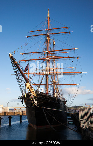 RRS Discovery at Discovery Point Dundee Scotland - Stock Photo