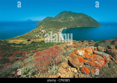 Sicily - Aeolian Islands - Island Nature Reserve Orientatata Filicudi, Capo Graziano. - Stock Photo