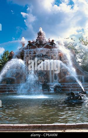 Castile-Leon La Granja de San Ildefonso FOUNTAIN GARDENS THE BATHS OF DIANA (DIANA DE LOS BANOS) - Stock Photo