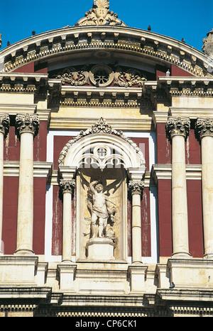 Sicily - Caltanissetta, particularly the Church of San Sebastiano. - Stock Photo