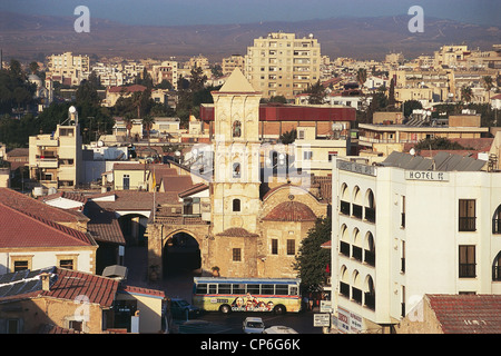 Cyprus - Larnaca, with views of the church of St Lazarus (Agios Lazaros) - Stock Photo