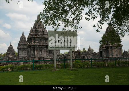 The Candi Sewu Temple in Java, few Km far from Prambanan Complex. - Stock Photo