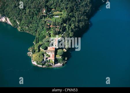 Lombardy - Lake Como - Lenno (Co), Villa del Balbianello. Aerial View