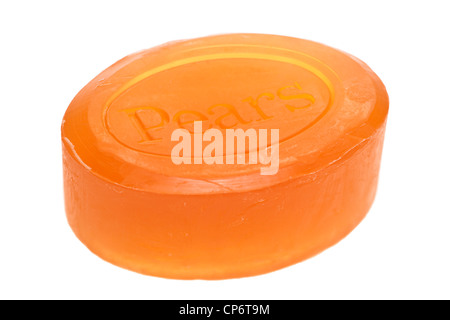 Bar of Pears soap - Stock Photo