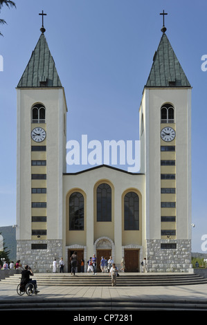 Europe Bosnia and Herzegovina Medjugorje  Marian Shrine Church of St. James Church - Stock Photo