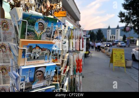 Europe Bosnia and Erzegovina Medjugorje religious articles - Stock Photo