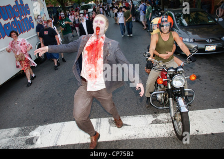 A zombie at the NYC Zombie Crawl, May 30, 2010. New York City, NY, USA. - Stock Photo