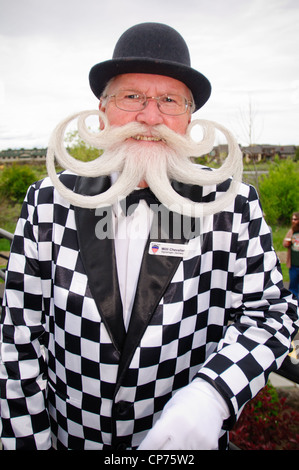 Willi Chevalier, a competitor at the 2010 USA National Beard and Moustache Championships in Bend, OR, USA. June - Stock Photo