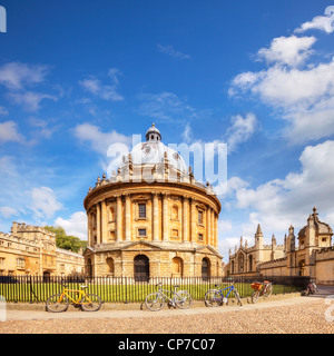 The Radcliffe Camera was built, in the Palladian Style, between 1737 and 1749 to house the Radcliffe Science Library - Stock Photo