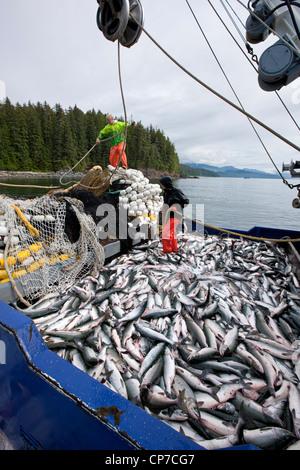 Alaska commercial fishing deck crew members bring a crab for Pure fishing jobs