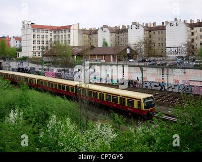 S-Bahn train in Berlin, Germany - Stock Photo