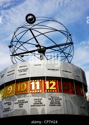 Urania world clock, Berlin Alexanderplatz - Stock Photo