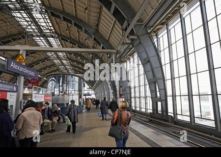 Berlin Alexanderplatz S Bahn station - Stock Photo