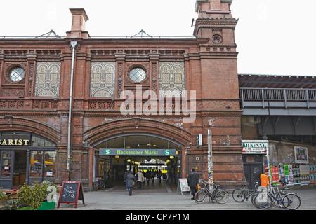 Berlin Hackescher Markt S Bahn station - Stock Photo