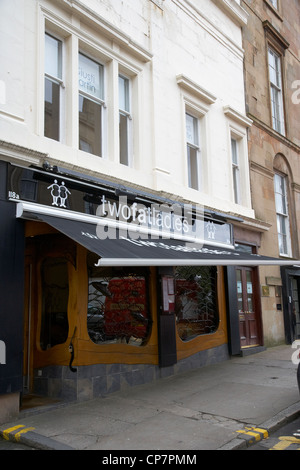 two fat ladies restaurant glasgow Scotland UK - Stock Photo