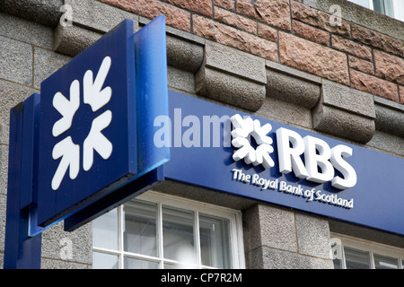 rbs royal bank of scotland bank branch in fort william Scotland UK - Stock Photo