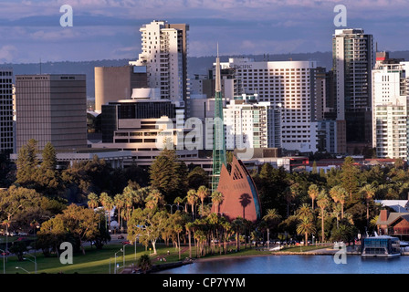 AUSTRALIA Western Australia Perth skyline. Central Business District from King's Park. - Stock Photo