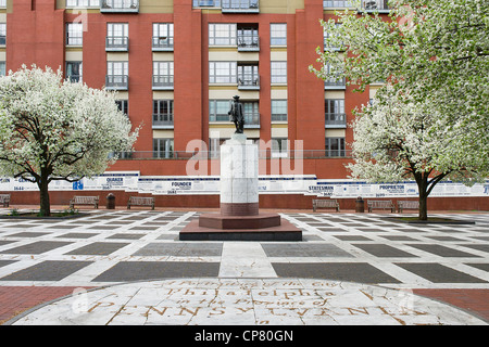 Welcome Park dedicated to William Penn, Philadelphia, Pennsylvania, USA - Stock Photo