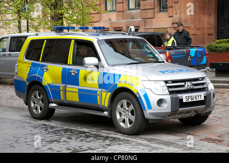 Strathclyde police 4x4 patrol vehicle in glasgow city centre Scotland UK - Stock Photo