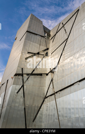 Exterior of the Jewish Museum in Berlin, Germany - Stock Photo