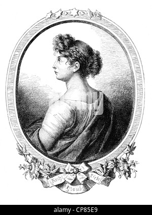 Louise of Mecklenburg-Strelitz, 1776–181, queen consort of Prussia, Prinzessin Viktoria Luise Adelheid Mathilde - Stock Photo