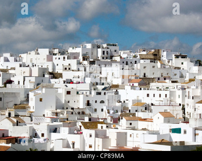 The white walled town of Vejer de La Frontera, cadiz, Spain - Stock Photo