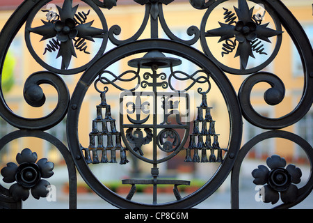Details on the iron gate of archbishop_s residence Wroclaw Ostrow Tumski - Stock Photo