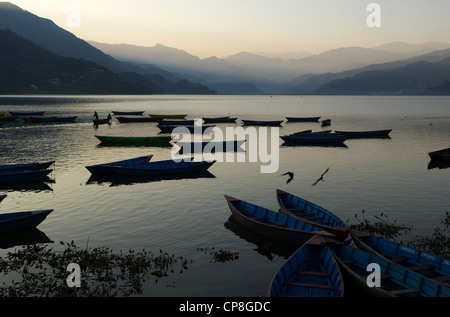 Phewa Lake, Pokhara, Nepal - Stock Photo