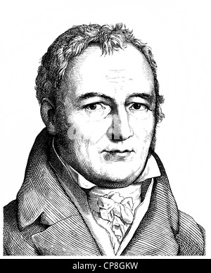 Johann Peter Hebel, 1760 - 1826, a German poet, a Protestant theologian and educator, Alemannic dialect poet, Historische - Stock Photo