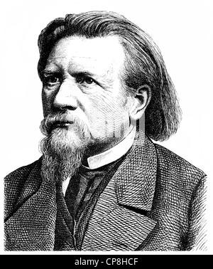 Karl Ferdinand Gutzkow, 1811 - 1878, a German writer, playwright and journalist, Historische Zeichnung aus dem 19. - Stock Photo