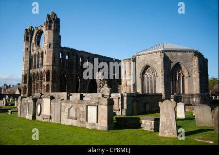 Elgin Cathedral and Chapter House, Moray, Grampian Region. Scotland.   SCO 8211 - Stock Photo