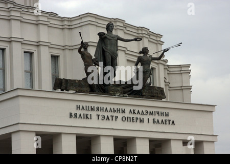 national academic bolshoi opera and ballet theatre of Belarus in Minsk - Stock Photo