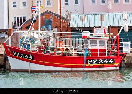 The Trawler Kenavo at Camber Docks Portsmouth - Stock Photo