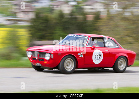 alfa romeo vintage car race mille miglia or 1000 miglia radicofani stock photo royalty free. Black Bedroom Furniture Sets. Home Design Ideas