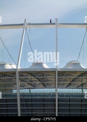 New football stadium for the 2012 UEFA European Football Championship, Kiev, Ukraine, Europe designed by the architects - Stock Photo