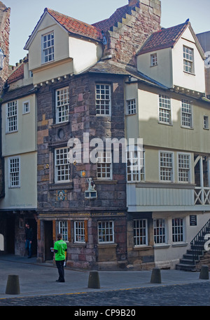 The John Knox House, Royal Mile, Old Town, Edinburgh - Stock Photo