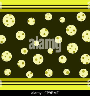 Trendy circles and stripes pattern in green - Stock Photo
