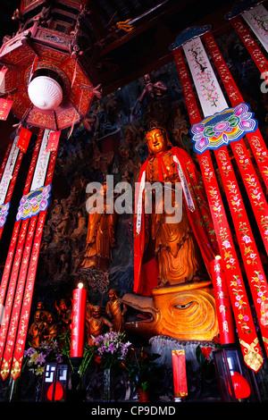 Jade Buddha Temple Jufo Si Shanghai China Most famous Buddhist temple in Shanghai - Stock Photo