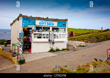 The gift shop at Lizard Point, Cornwall, UK - the most southerly point on the English mainland. - Stock Photo