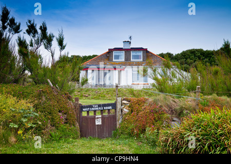 The most southerly house on the English mainland at Lizard Point, Cornwall, England, UK - Stock Photo