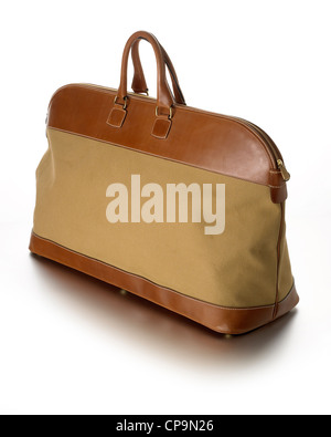 mens holdall travel weekend bag - Stock Photo