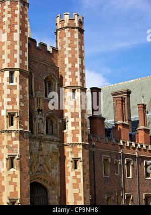 Great Gate, Trinity College, Cambridge, Cambridgeshire, England, United Kingdom, Europe - Stock Photo