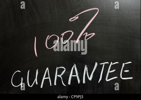Chalk drawing - 100% guarantee - Stock Photo