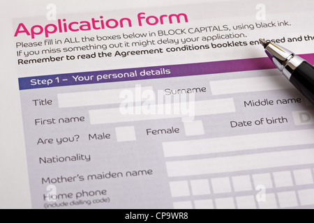 Application form - Stock Photo