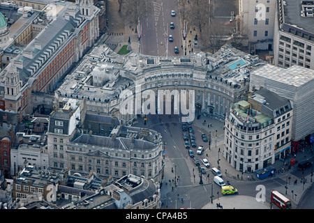 Aerial Photograph of Admiralty Arch. - Stock Photo