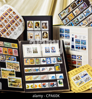 Postage stamp collection - Stock Photo