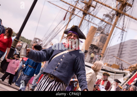 Reenactor, Chatham Historic Dockyard, Kent, England, UK - Stock Photo