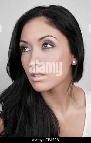 Beautiful woman portrait - Stock Photo